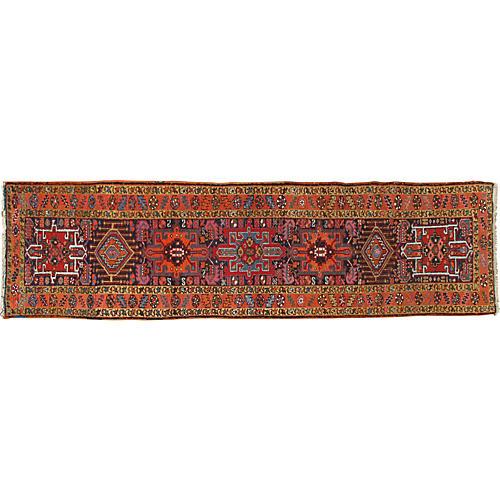 Persian Heriz Runner Rug 2'10 x 10'10