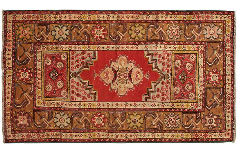 Turkish Oushak Rug, 3'7