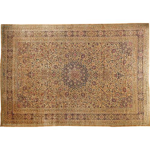 """Antique Mashad Carpet, 13'3"""" x 19'4"""""""