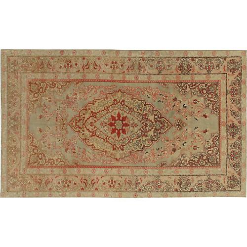 Turkish Oushak Rug, 4'2 x 6'11