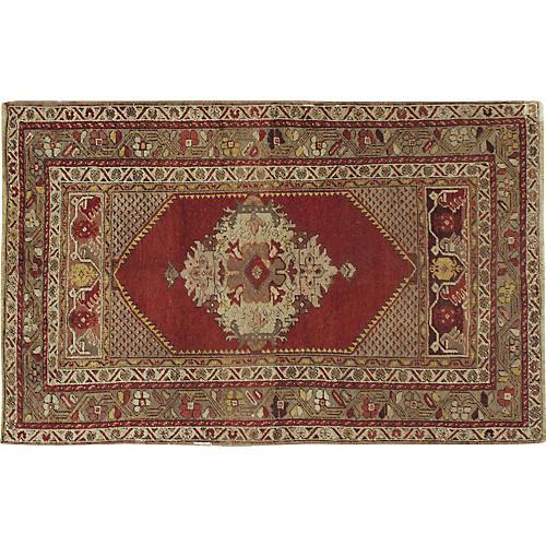 Turkish Oushak Rug, 3' x 5'8