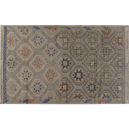Turkish Jajim Flat Weave Rug 6'4 x 10'5