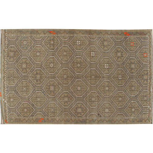 Turkish Jajim Flat Weave Rug 6' x 9'7