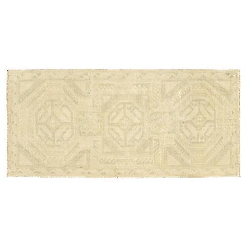 Turkish Cream Yastik Rug, 1'8 x 3'7
