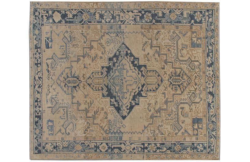 Persian Beige Heriz Rug 6'10 x 8'1