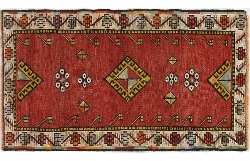 Turkish Brick RedYastikRug, 1'8 x 2'11
