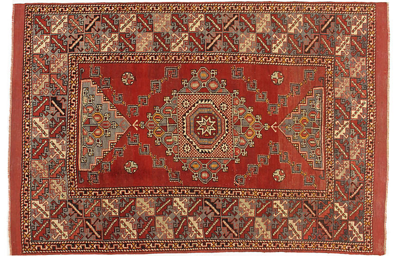 Turkish Oushak Rug, 5'5