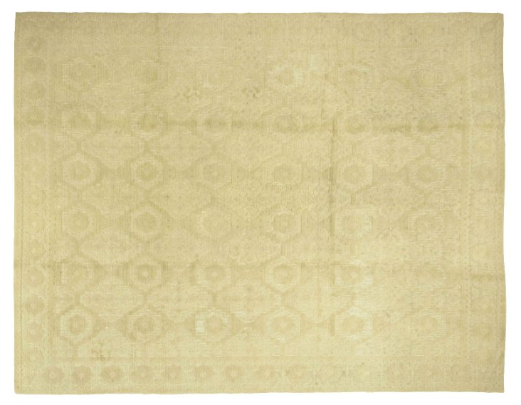 """Spanish Hand-Knotted Rug,     7' x 9'2"""""""