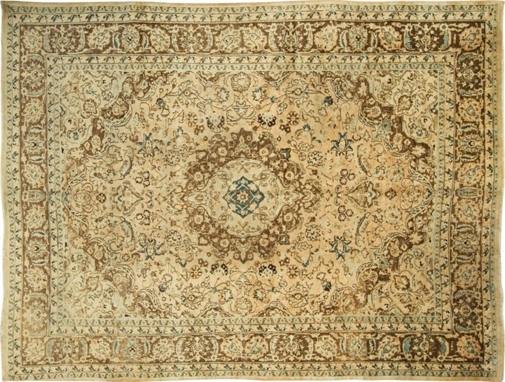 Antique Mashad Hand Knotted Rug 8' x 10'