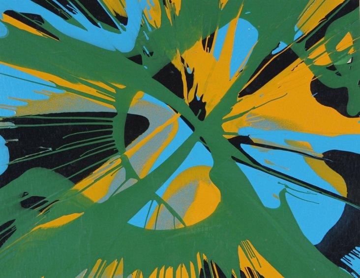 Paint Splatter Abstract