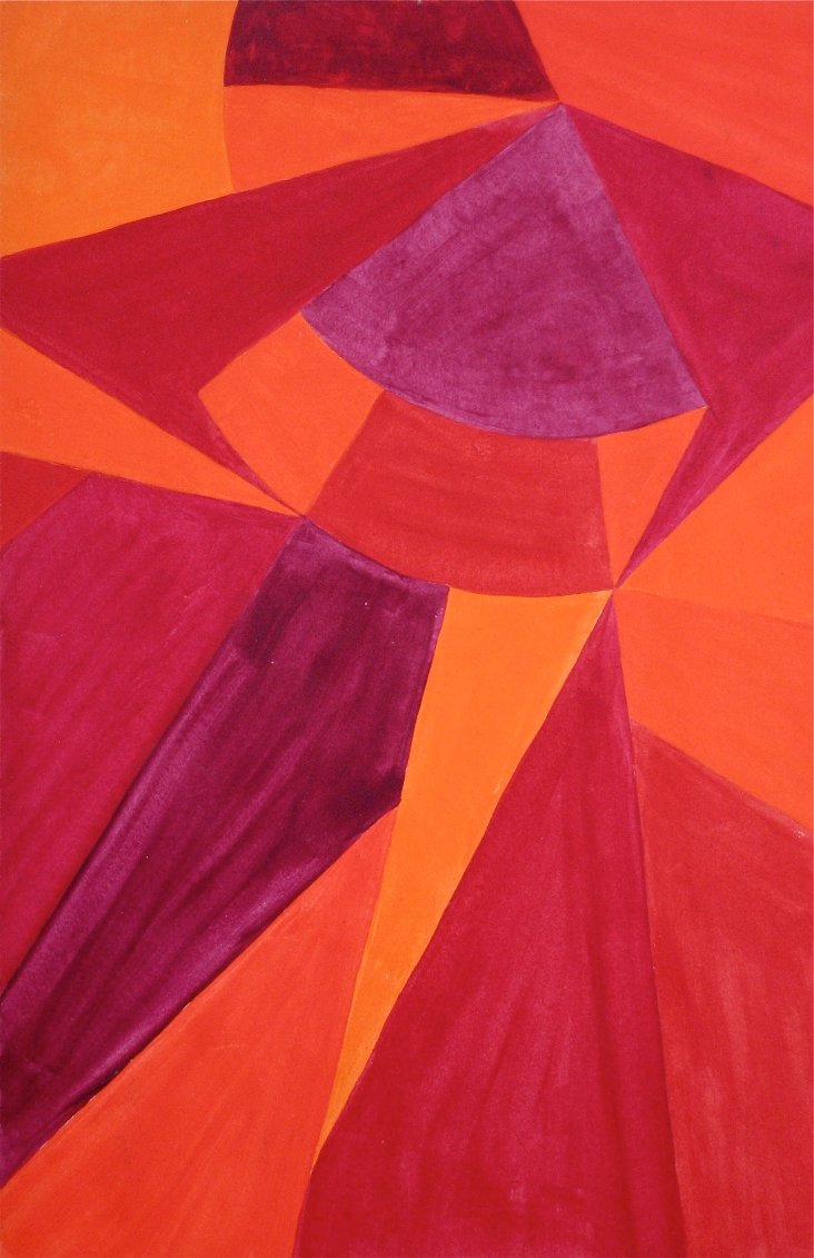 Sunset Abstract by Alexandra Docili