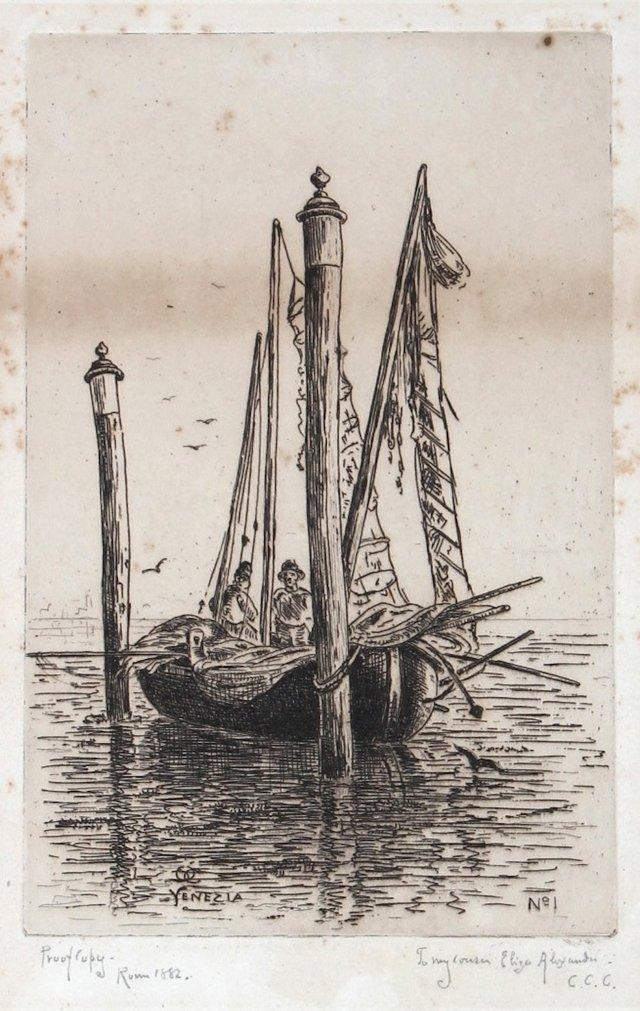 Venice Boat Scene, C. 1882
