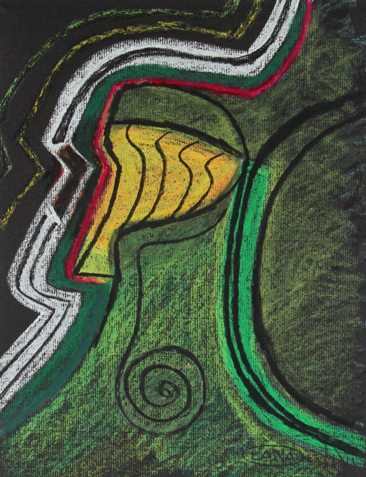 Dark Sea Green Abstract, di Cosola