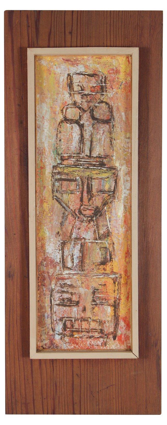 1950s Totem Pole by Carol Henrikson
