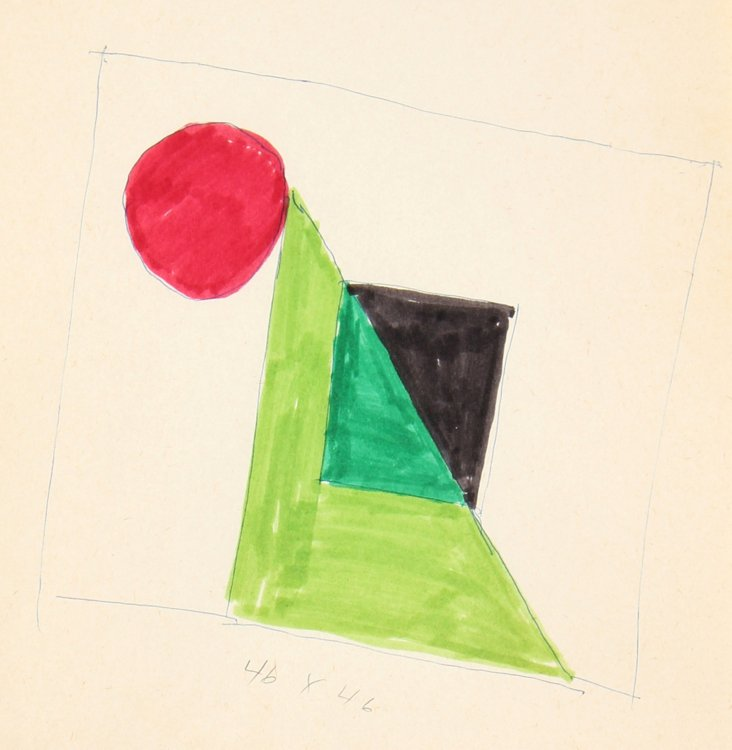 Study for a Geometric Painting