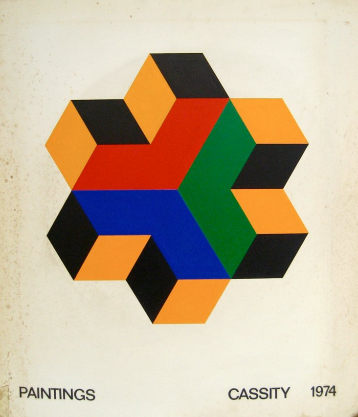 Cassity Hard-Edge Op Art, 1974