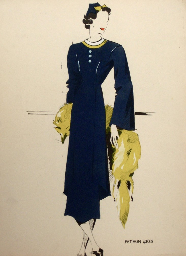 Patron French Fashion Illustration