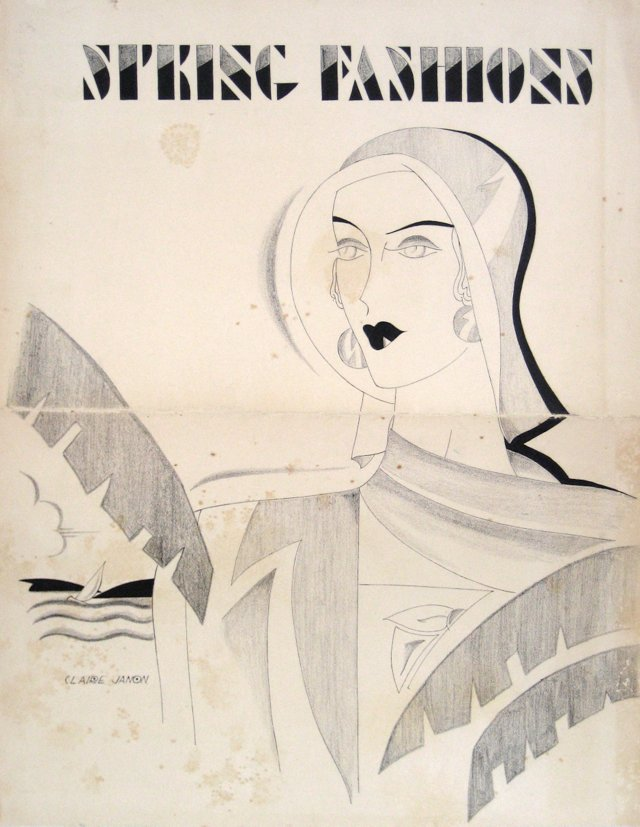 Art Deco Fashion Illustration