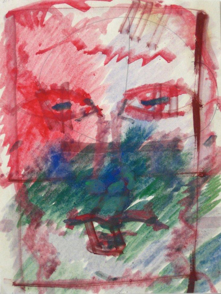 Puerto Rican Abstract Portrait, Irizarry