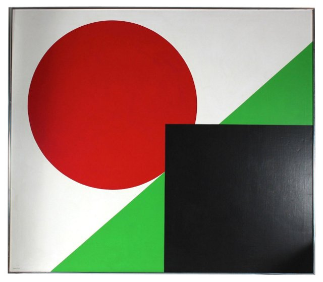 Hard-Edge Geometric Abstract, 1980