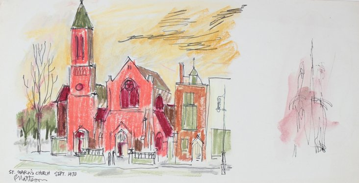 St. Mark's Church by Rip Matteson, 1970