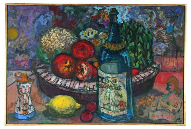 Byran Randall Still Life w/ Fruit & Wine