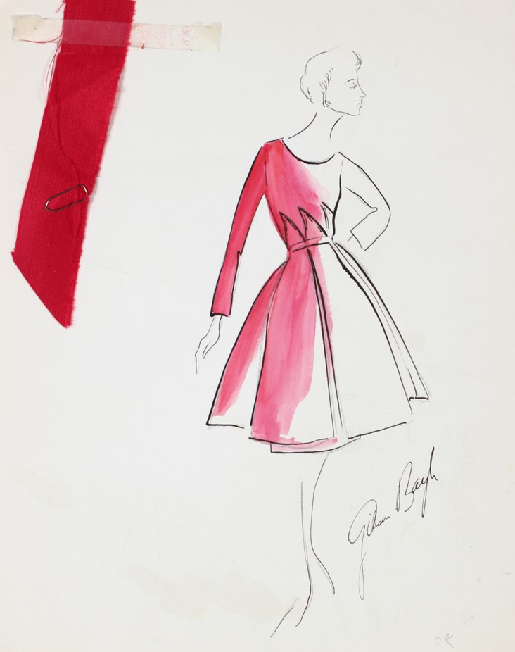 Lady in Red by Gibson Bayh, 1950s