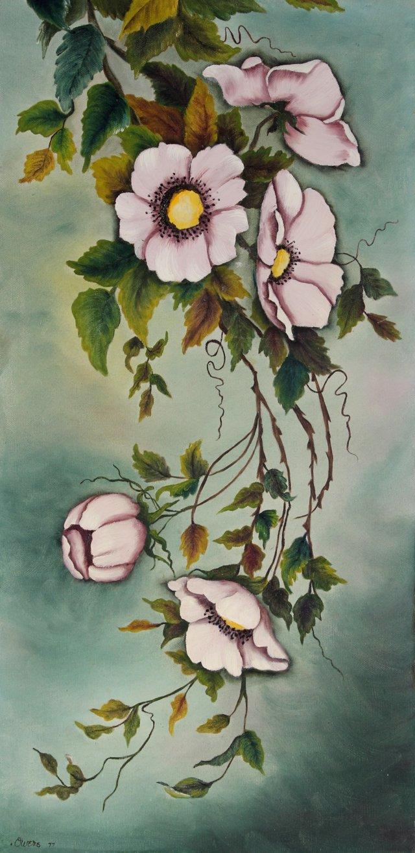 Hanging Pink Petunias, 1977