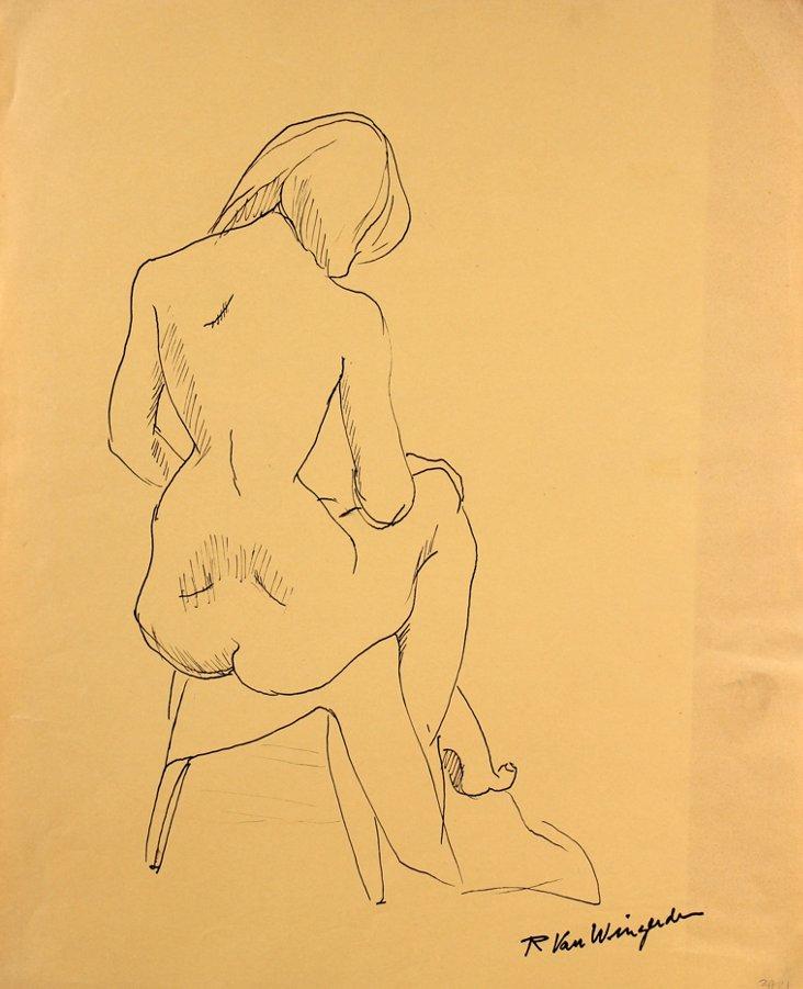 Sitting Nude by R. Van Wingerden