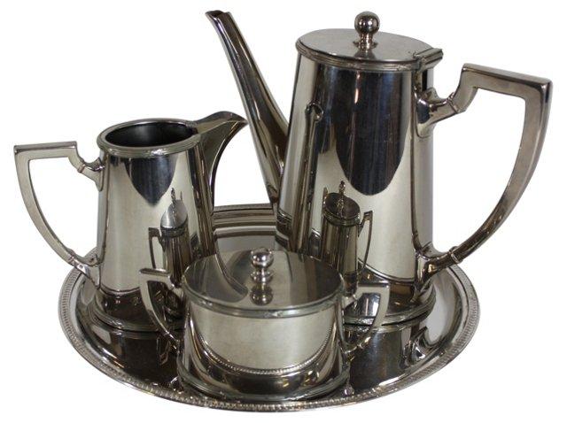 Silverplate Tea Set, 4 Pcs