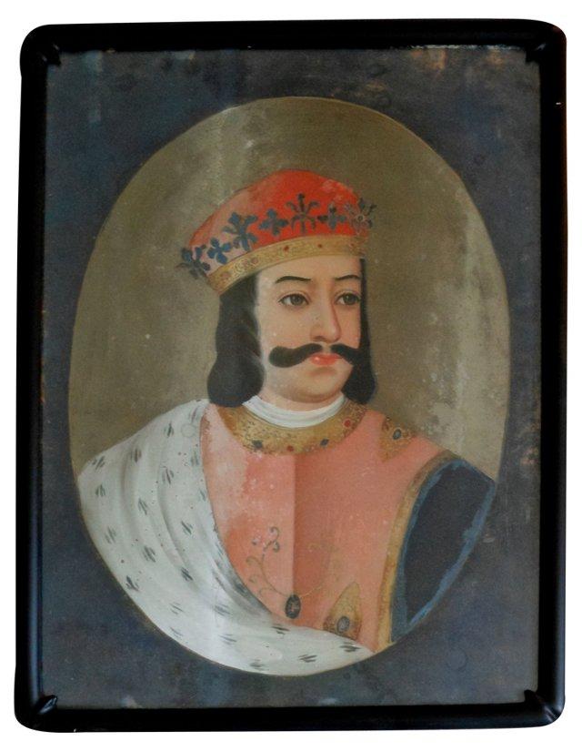 Reverse-Painted Glass Portrait