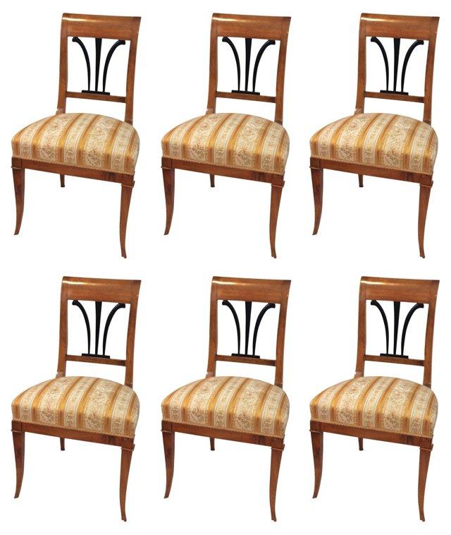 Biedermeier  Chairs, S/6