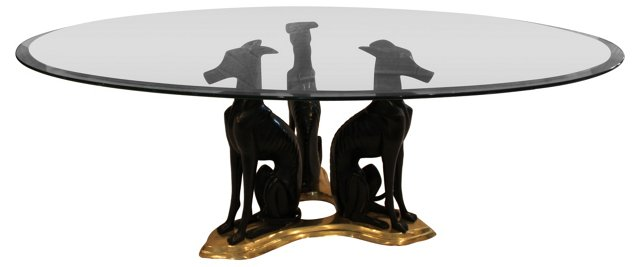 Maitland-Smith Bronze Whippets Table