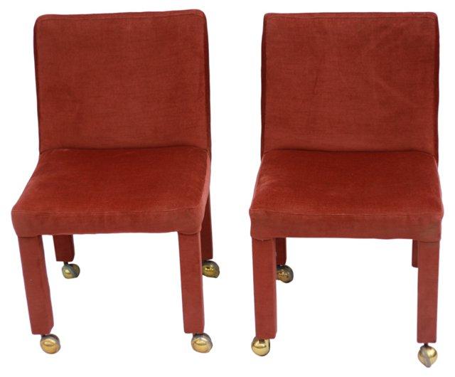 Milo Baughman Slipper Chairs, Pair