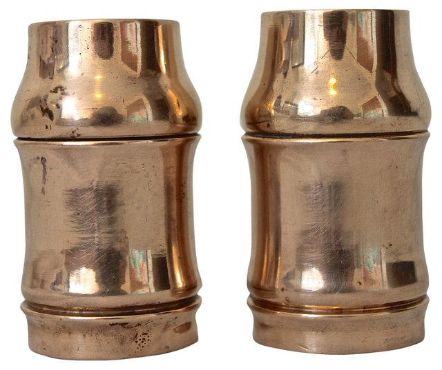Brass Salt & Pepper