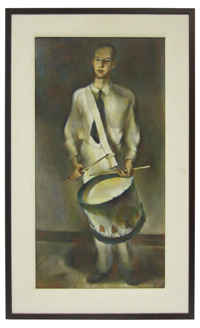 Youth w/ a Drum by Robert Graham