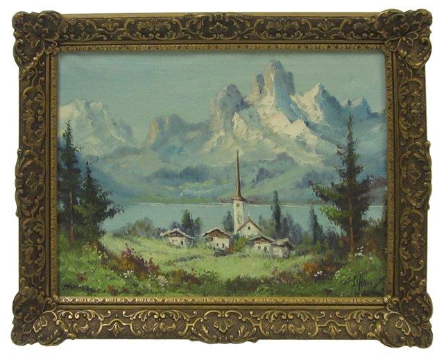 Village in a Mountain Landscape