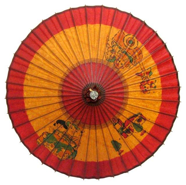 Antique Bamboo Parasol