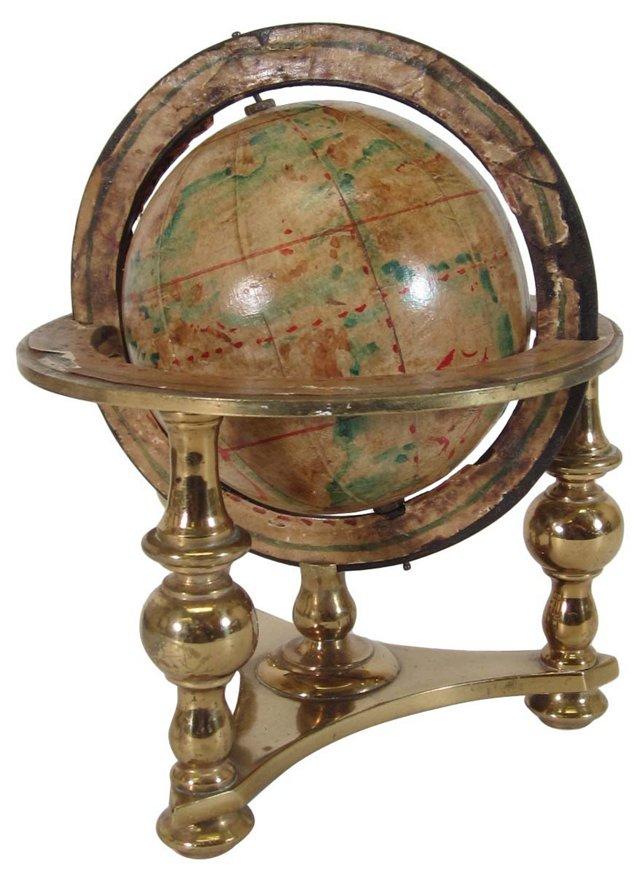 Brass Table Globe