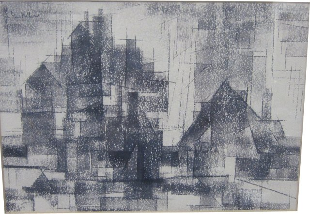 Abstract Cityscape by A. George   Miller