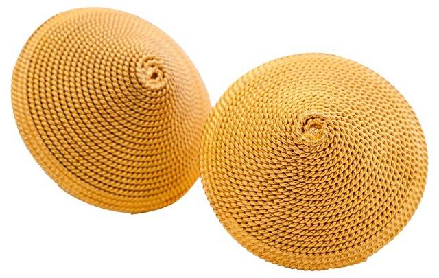 Conical Goldtone Earrings