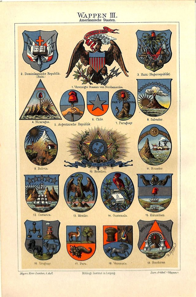 Coats of Arms, the Americas, 1899