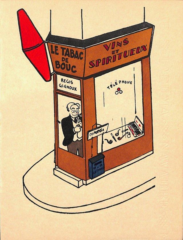 Paris Storefront, Le Tabac de Bouc, 1925