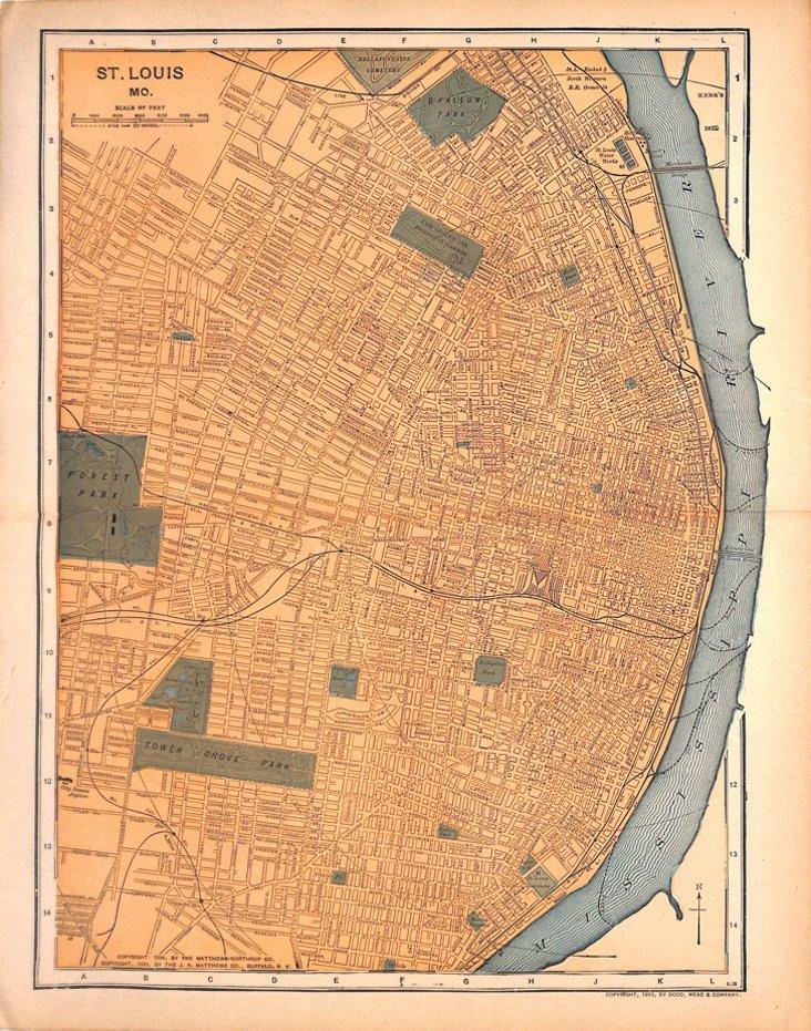 St. Louis Map, 1903