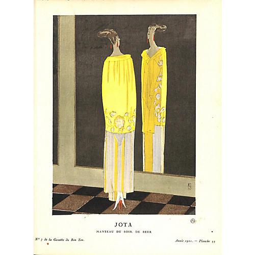 Art Deco Fashion, Evening Wear, 1921