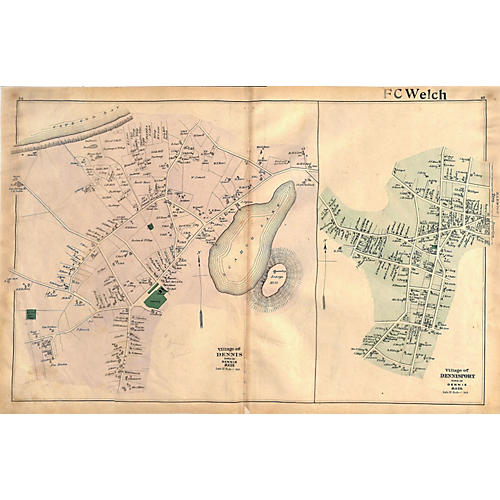 Map of Dennis, 1880