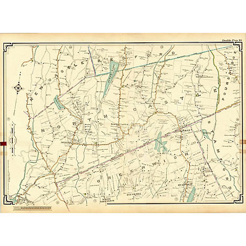 Map of North Castle, NY & Greenwich, CT