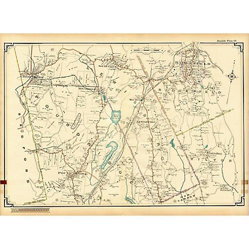 Map of Ridgefield, CT & Poundridge, NY