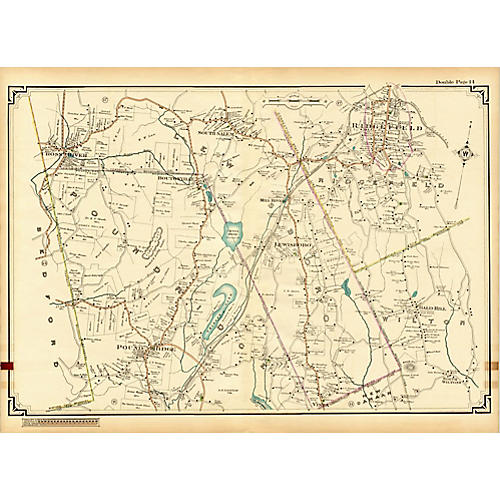 Map of Ridgefield, CT & Poundridge, NY