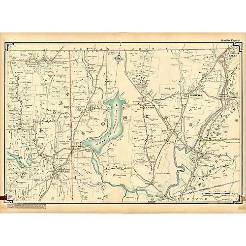Map of Yorktown & Somers, NY, 1908